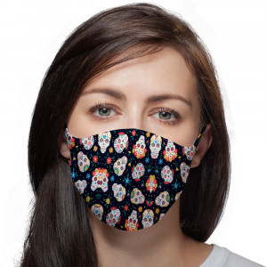 Funny skulls reusable face...